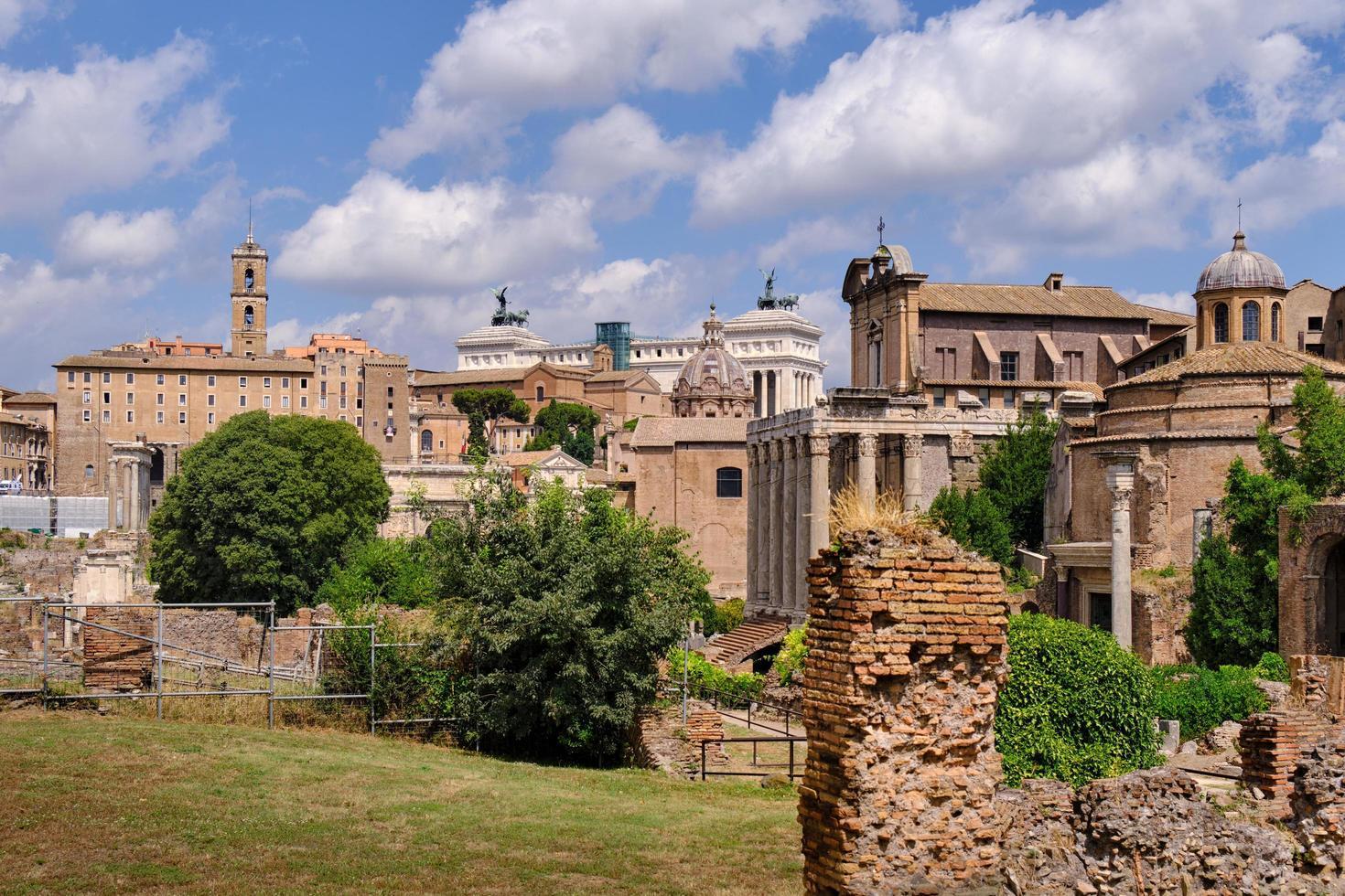kejserliga forum i antika Rom foto