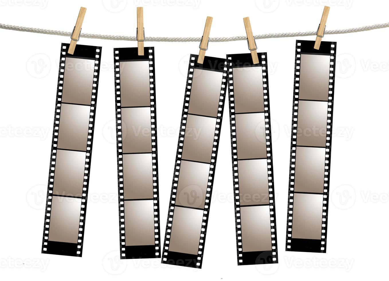 gamla film negativa filmremsor foto