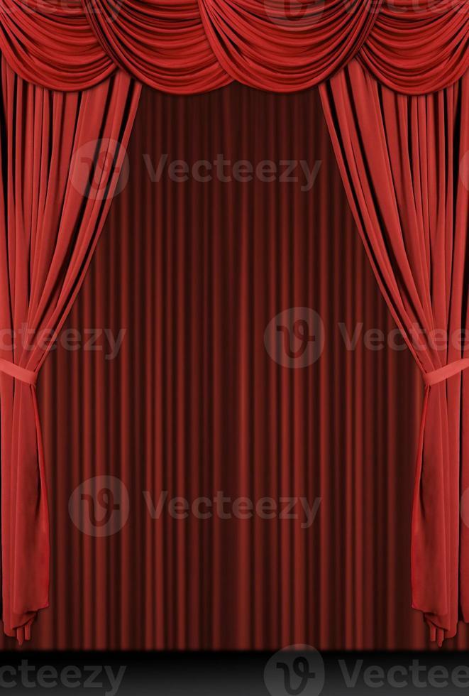 vertikal röd draperad scen foto