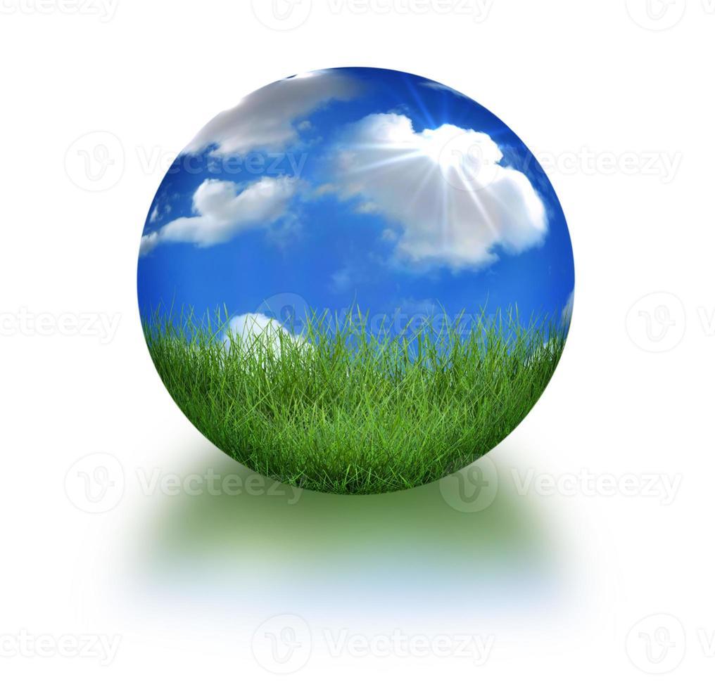 jorden i konceptuellt format i 3D -landskap foto
