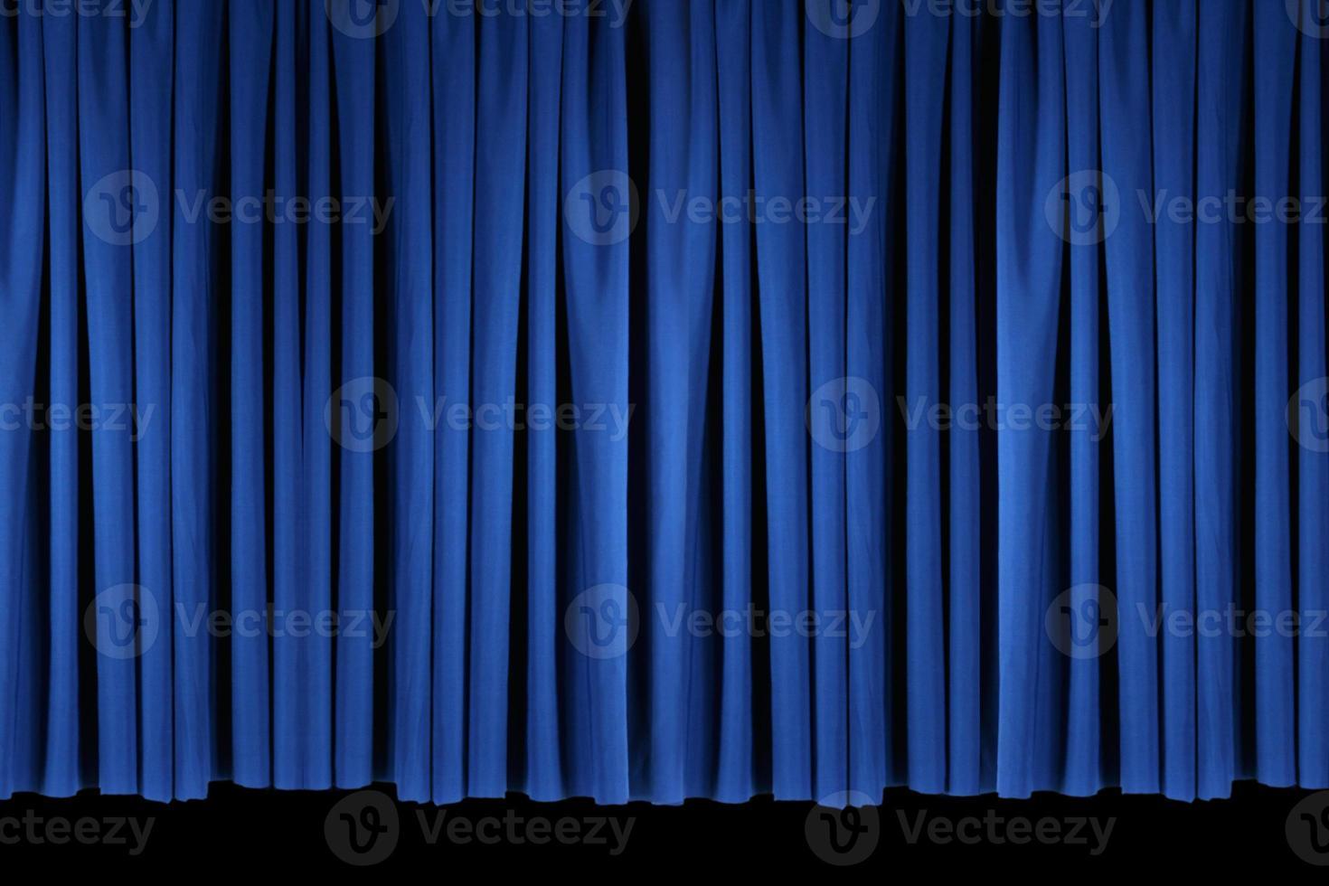 ljusblå scen teatergardiner foto
