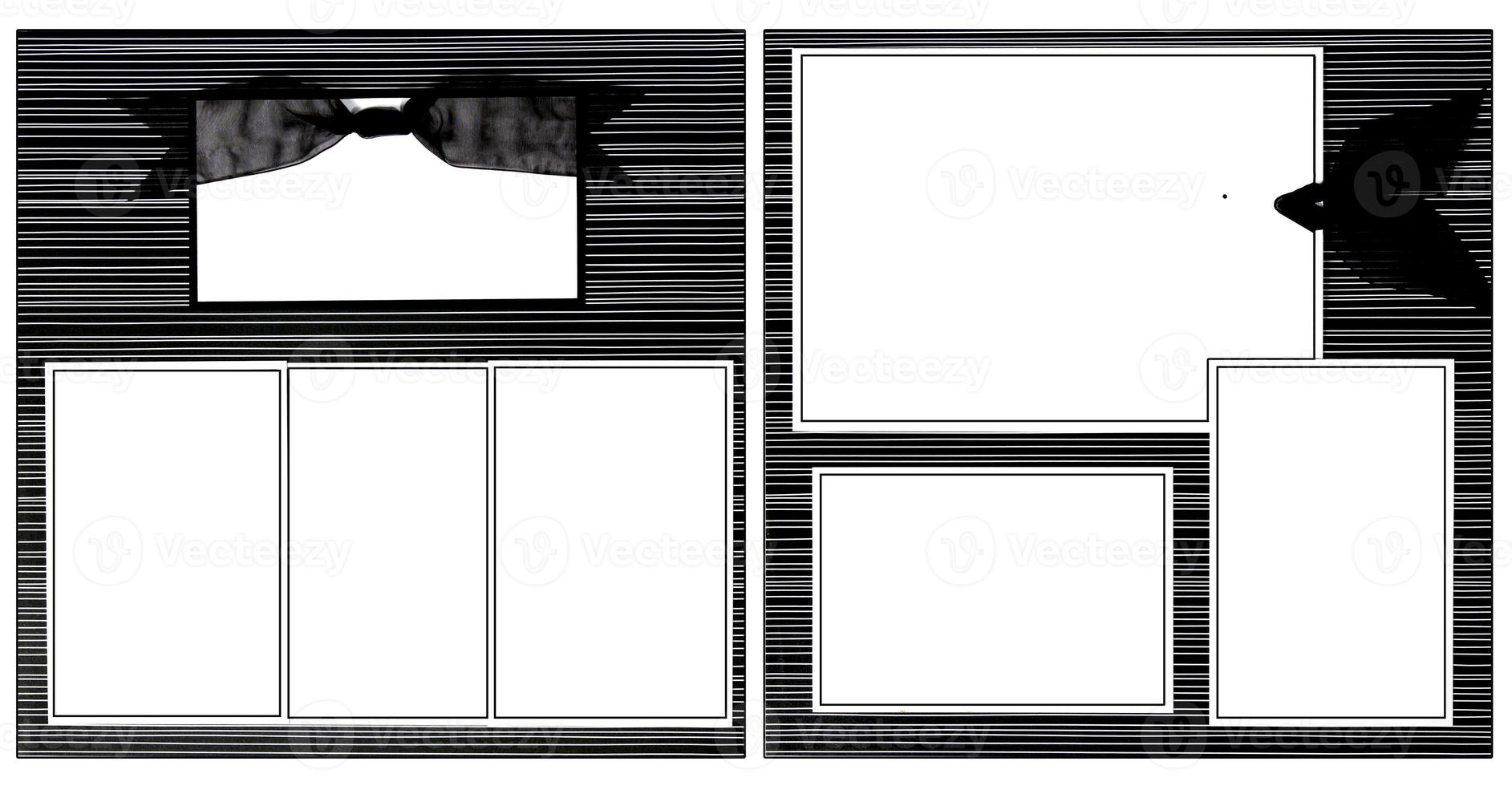 svart band klippbok mall foto