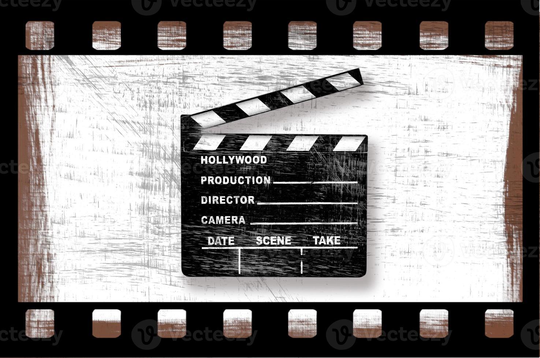 grungy smutsig film klaff regissörens styrelse foto