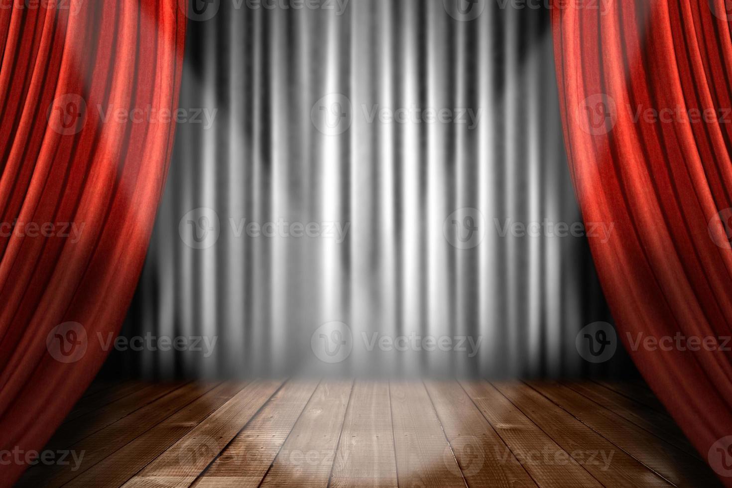 strålkastarljus på scenen foto