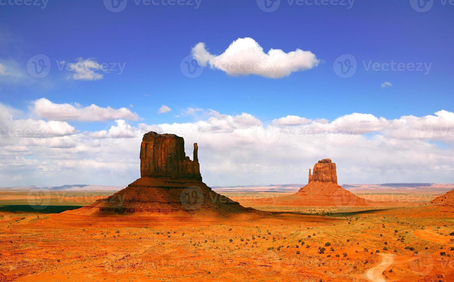 vackert landskap av monument valley arizona foto