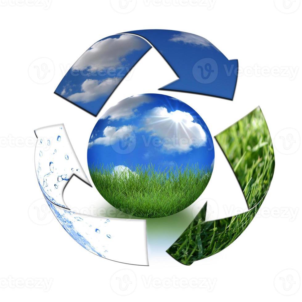 ta hand om moder jord koncept foto