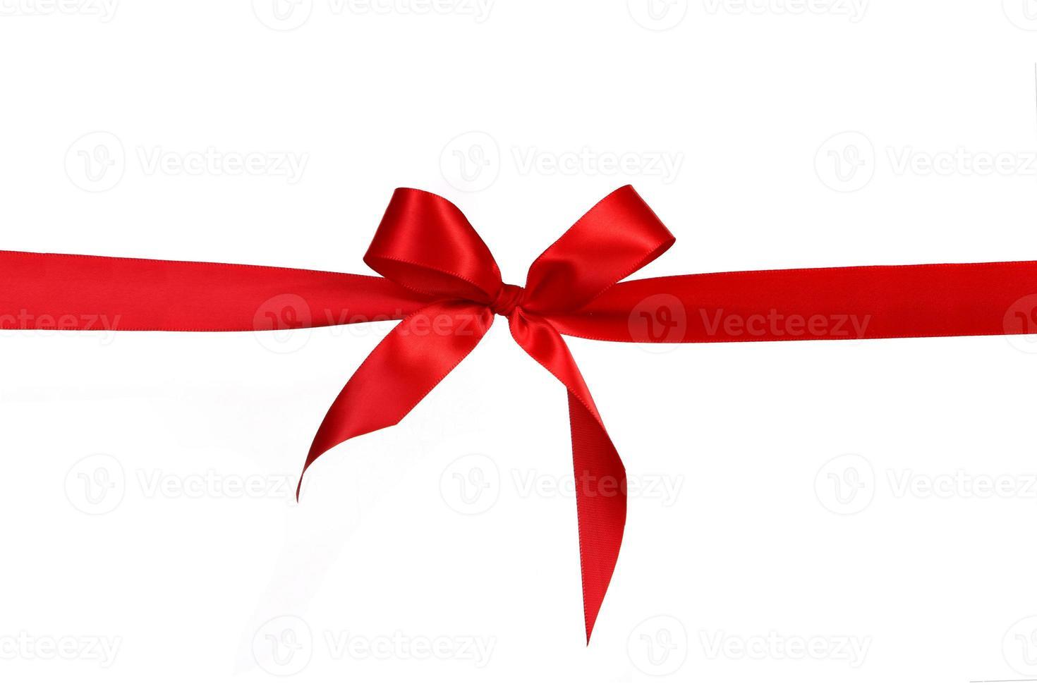 röd gåva band rosett foto
