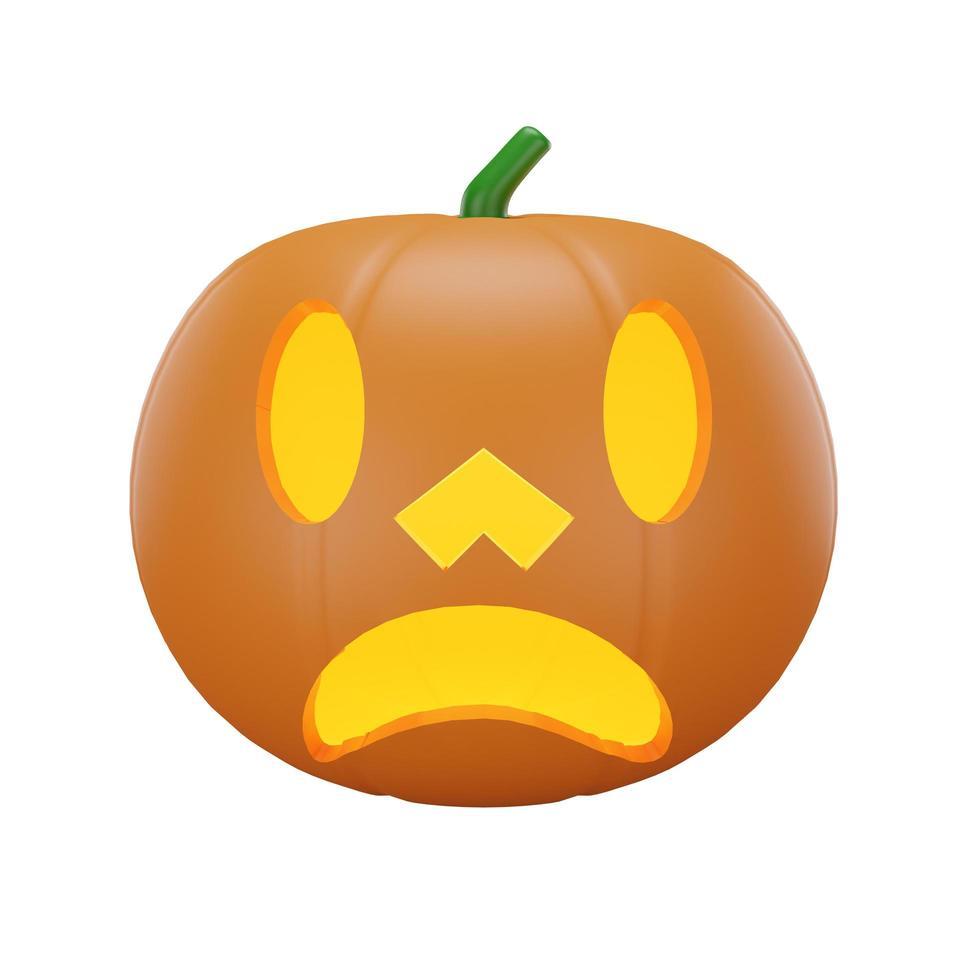 pumpa med halloween koncept foto