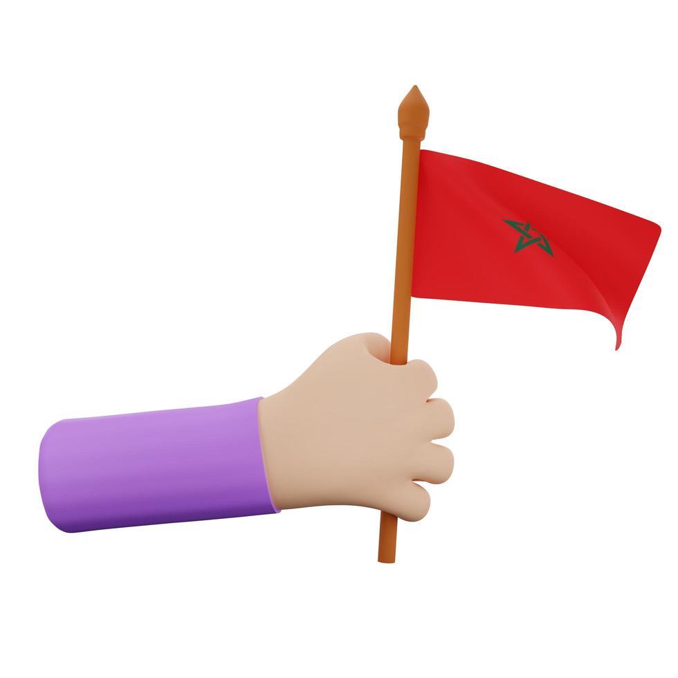 Marocko nationaldag koncept foto