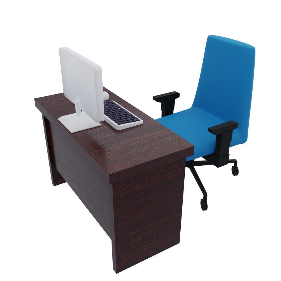 skrivbord illustration foto