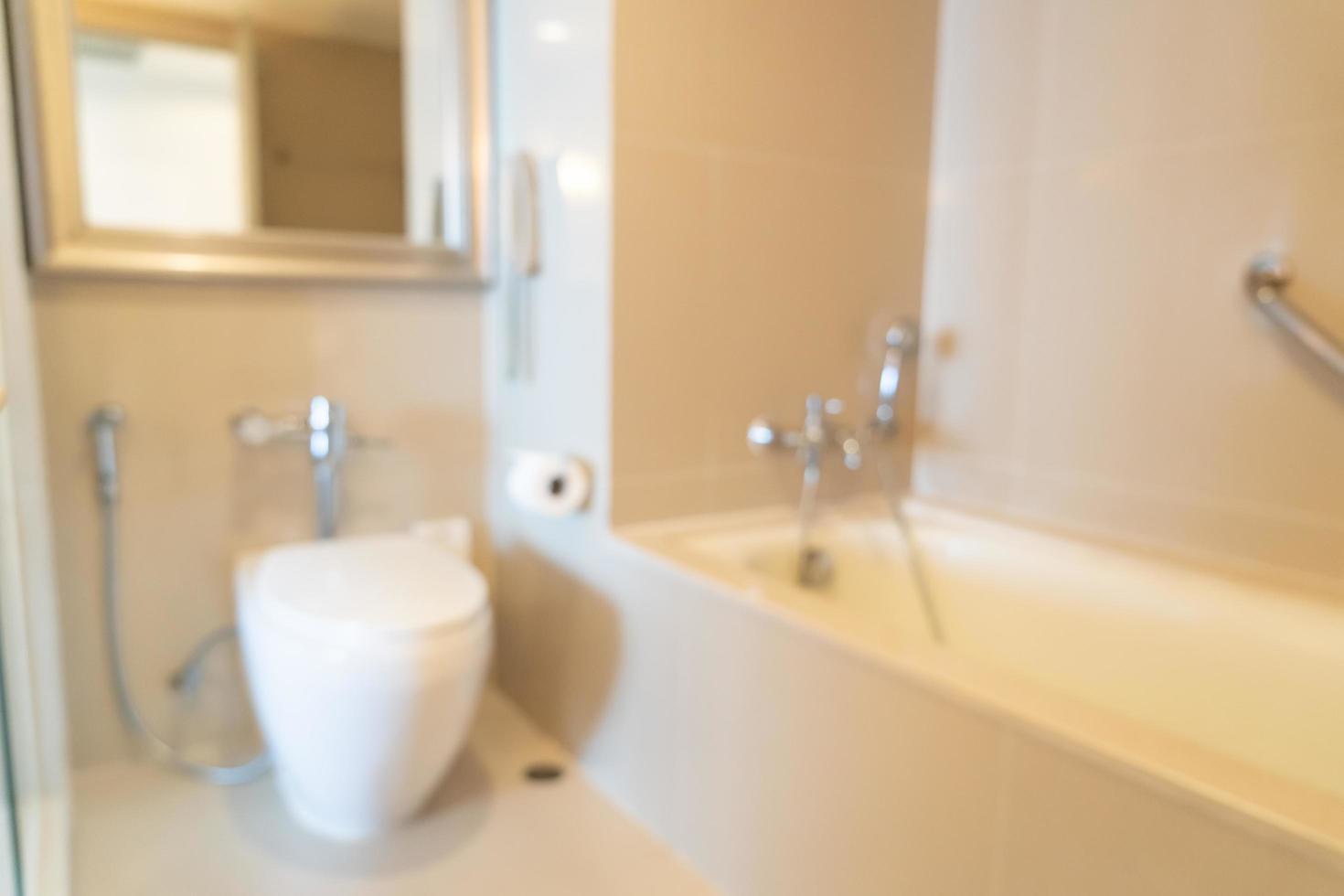 abstrakt oskärpa badrum eller toalett för bakgrund foto