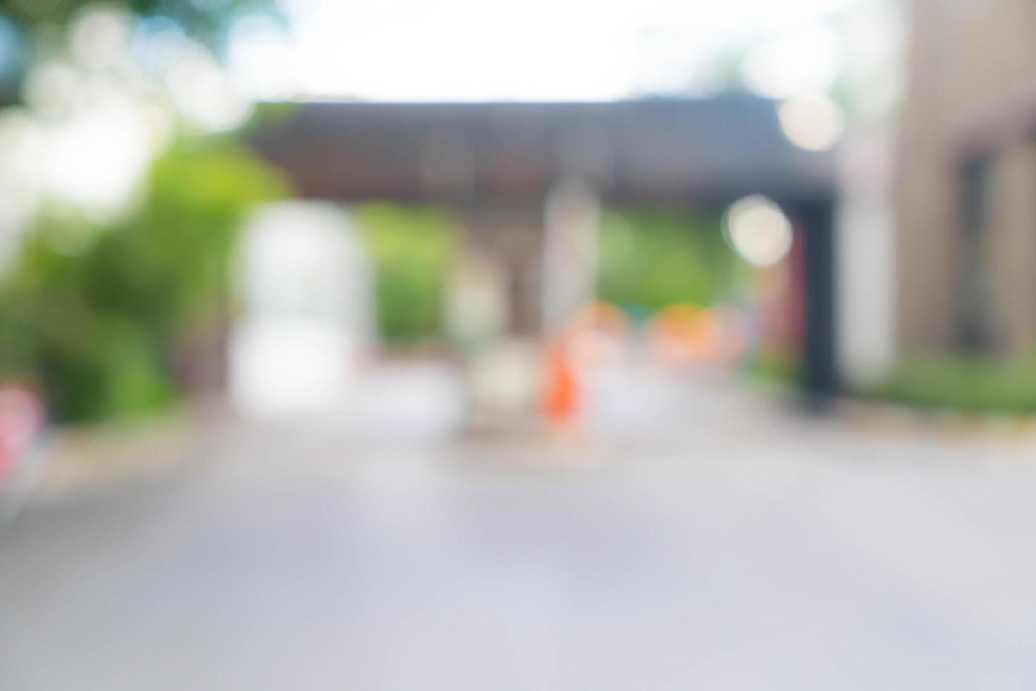 abstrakt oskärpa inträde och utfart sätt att parkera bil för bakgrund foto