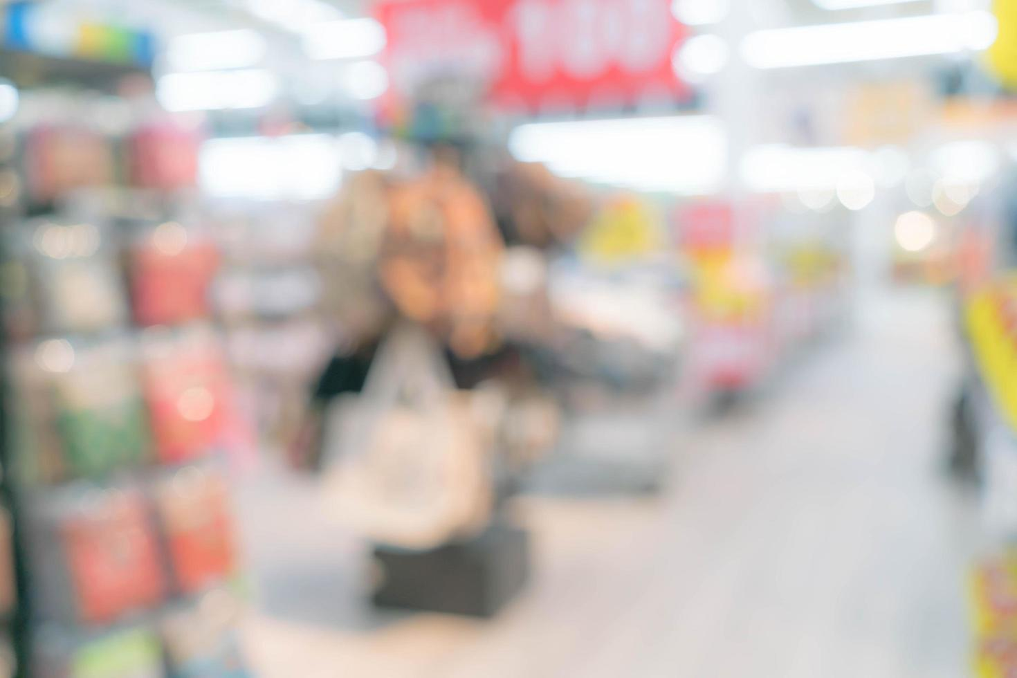 abstrakt oskärpa köpcentrum och detaljhandel interiör foto