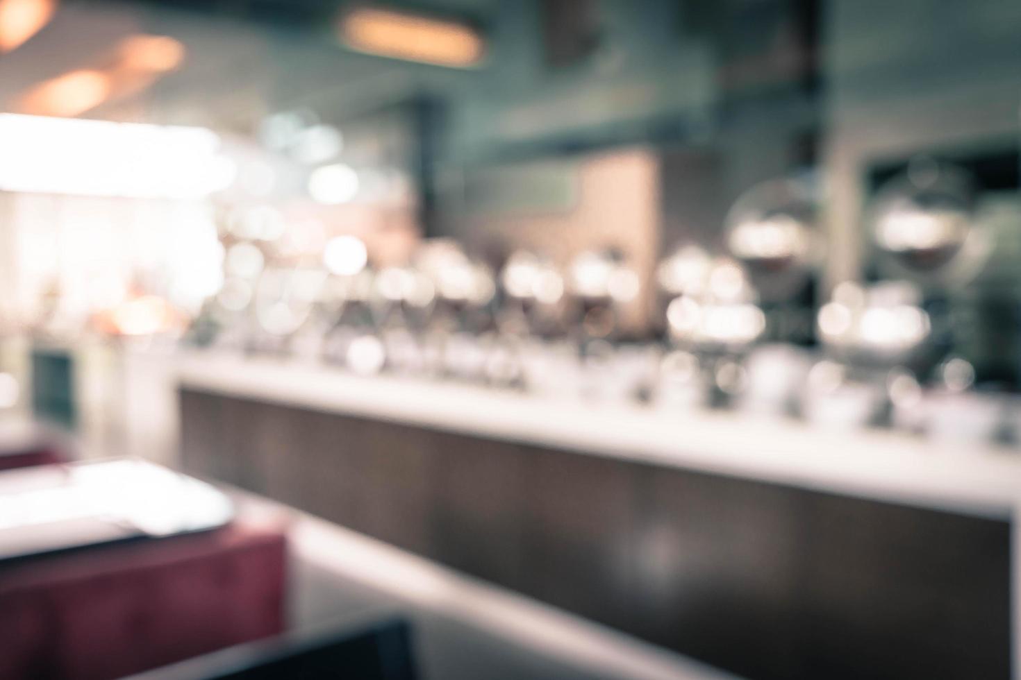 abstrakt oskärpa catering buffé mat i restaurang - vintage effekt filter foto