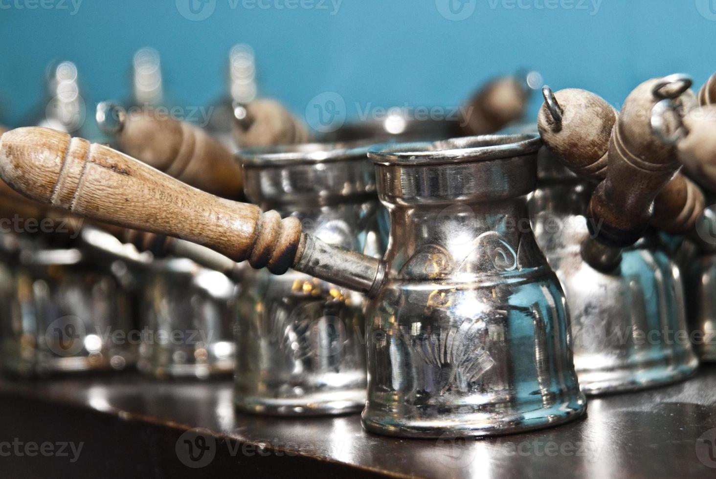 turkiskt traditionellt sätt att göra kaffe. turka foto