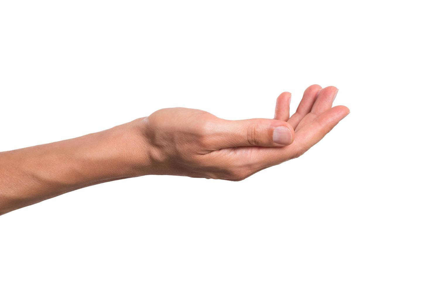 manlig hand som håller foto