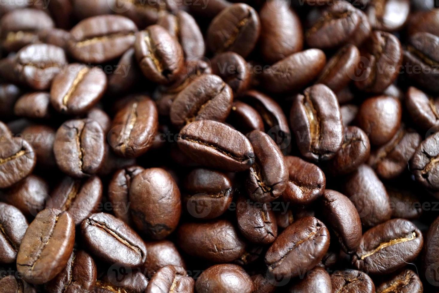 närbild av kaffebönor foto