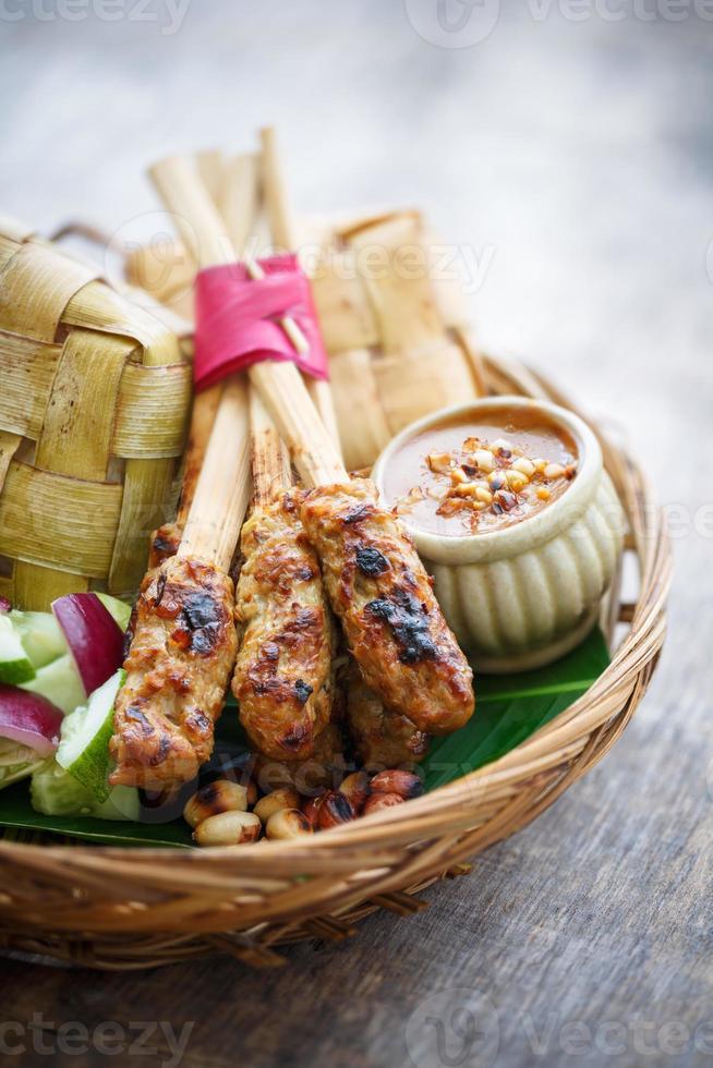 kyckling Satay, Bali, Indonesien foto