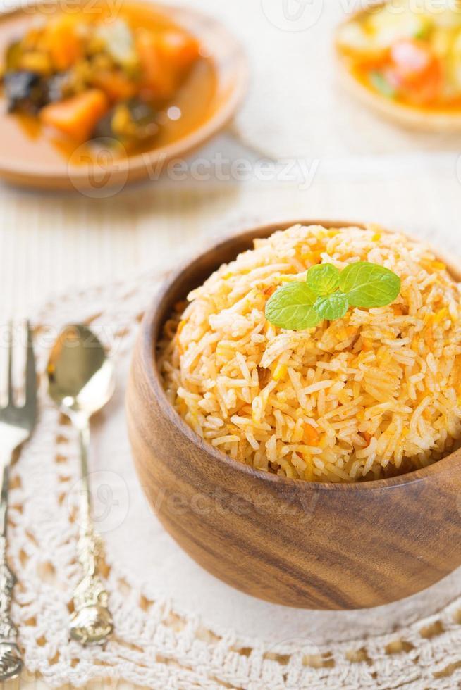 indisk vegetarisk mat. foto