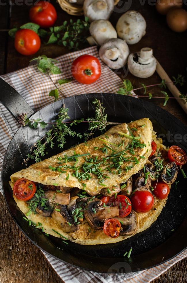 rustik omelett foto