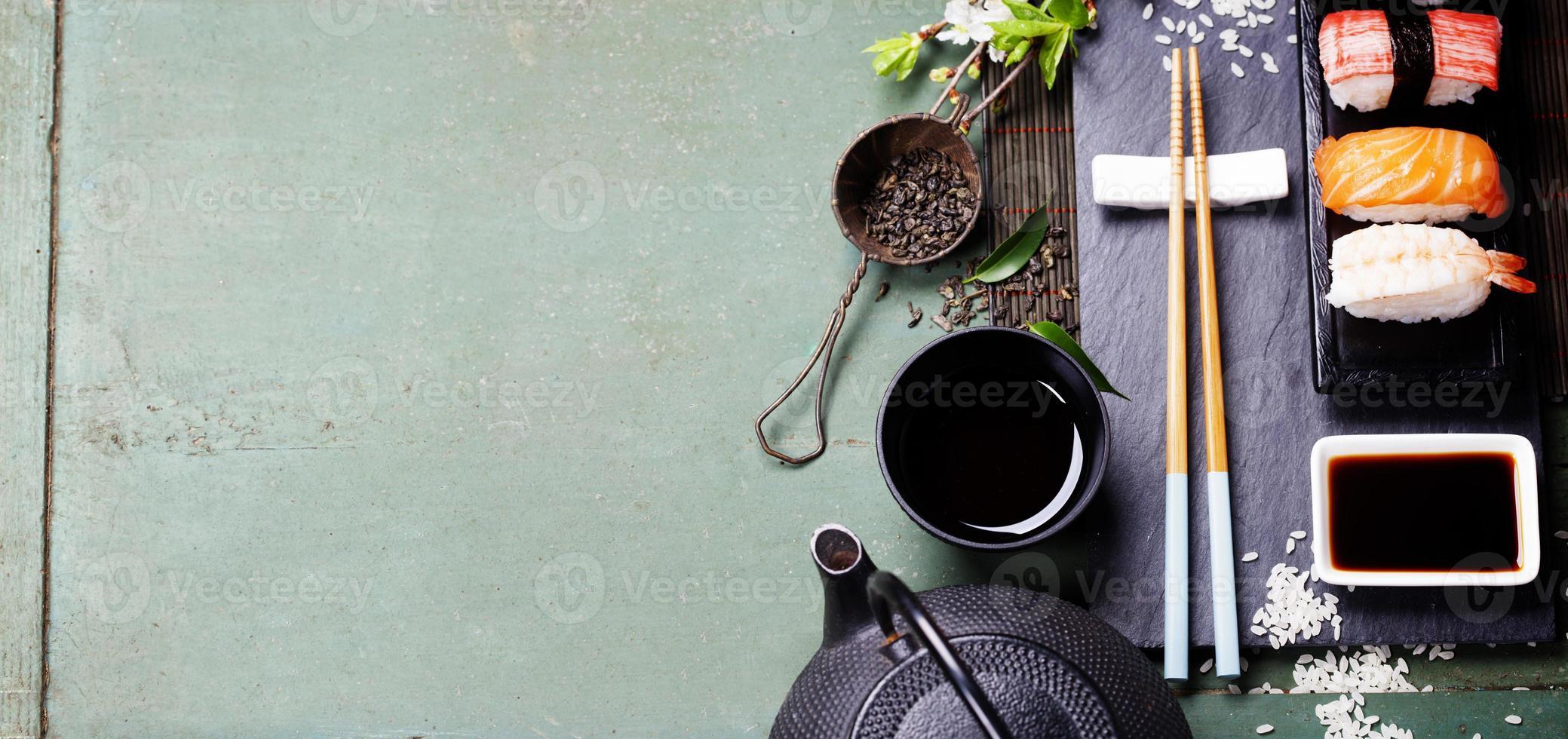 en japansk mat skrivbordsbakgrund foto