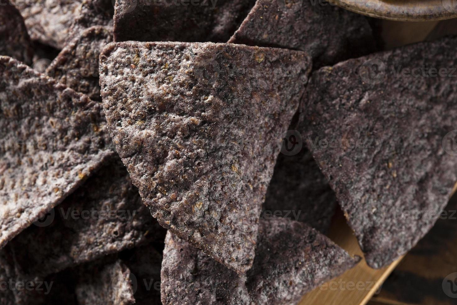 hembakade ekologiska chips foto