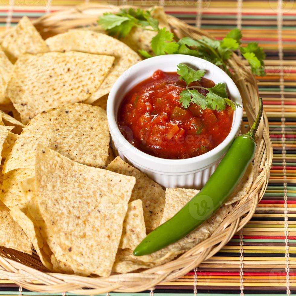 röd salsa foto