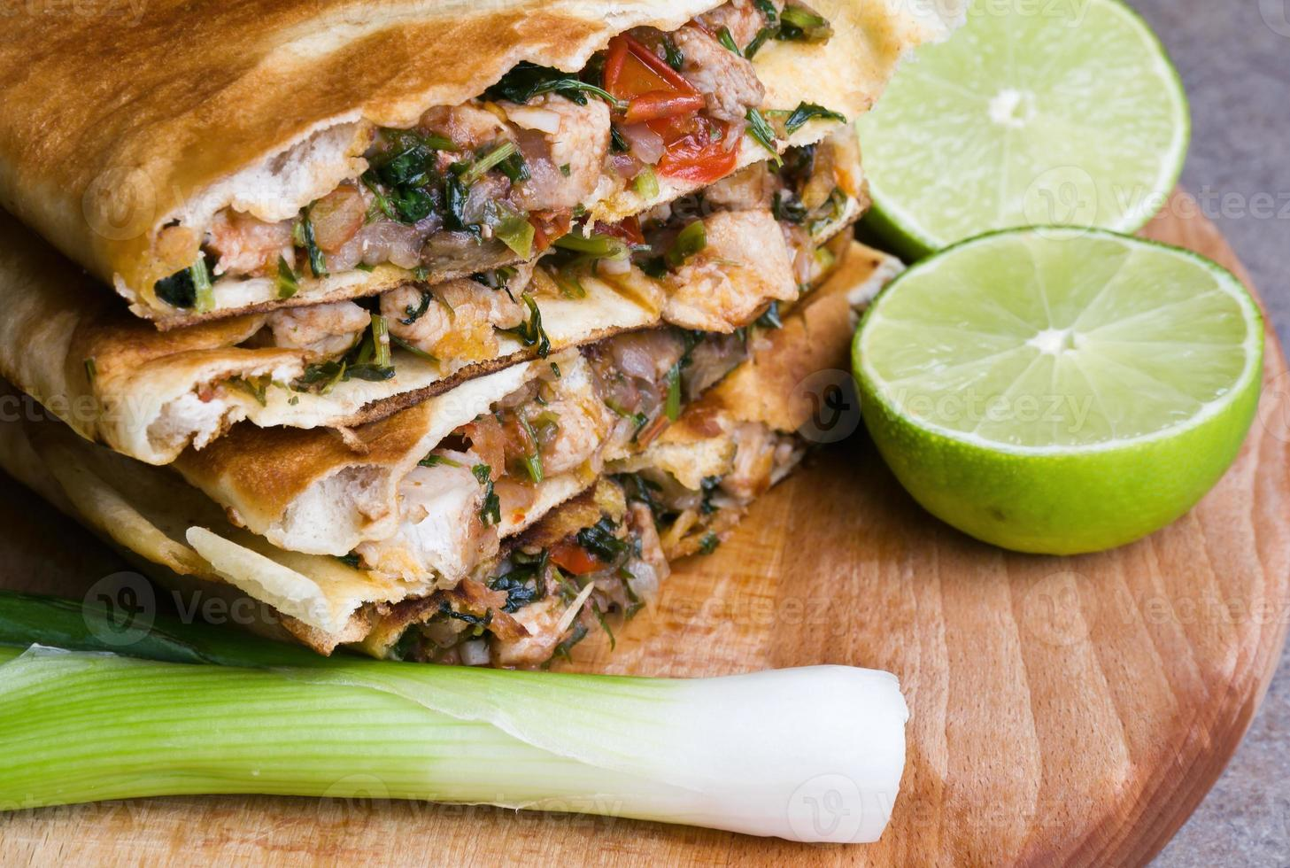 mexikanska quesadillas foto
