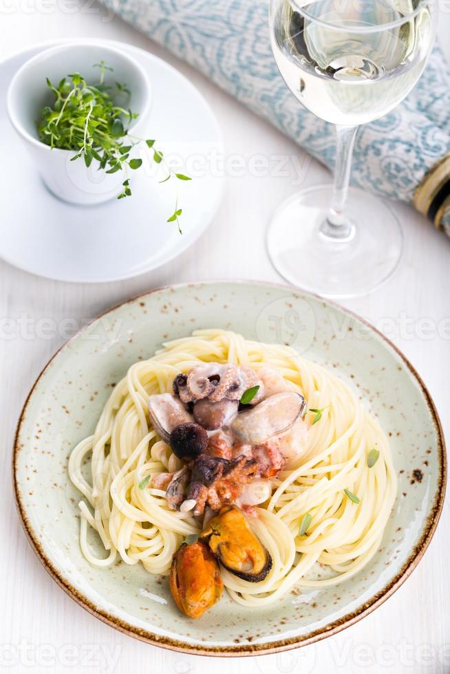 skaldjurspaghetti foto