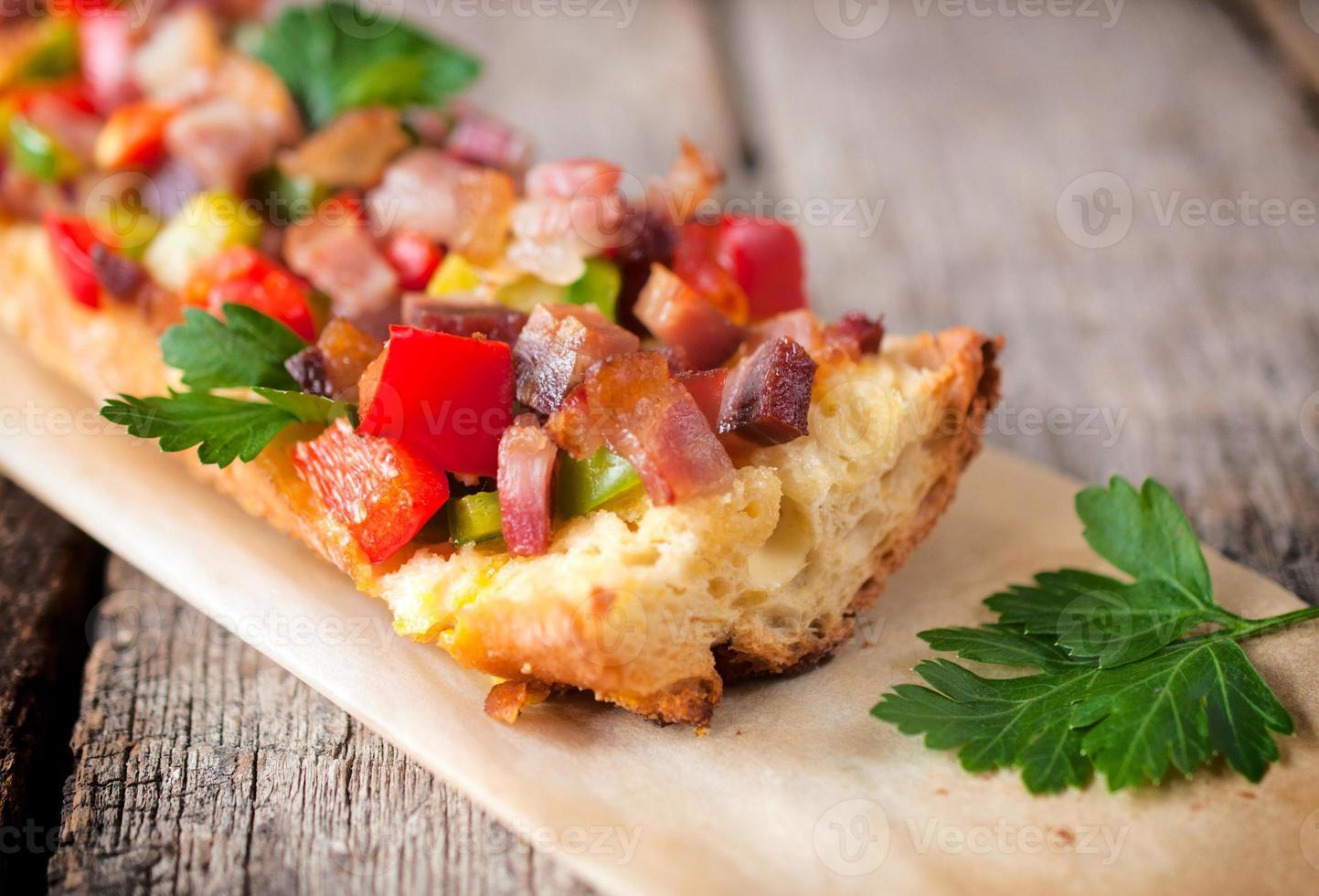 bacon och paprika foto