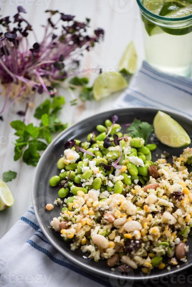 vegetabilisk sallad med fullfoder foto