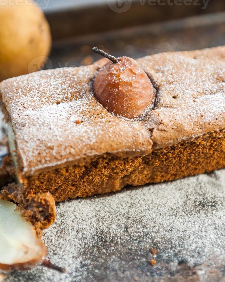 tårta med päron foto