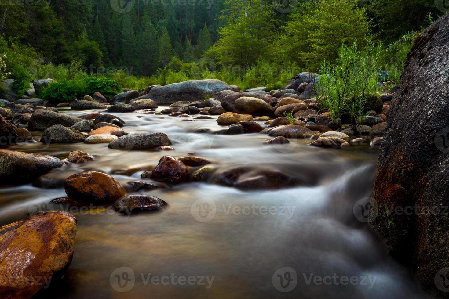 flödande flod foto