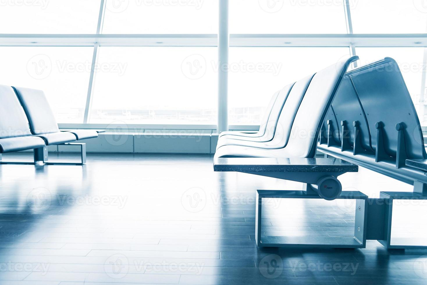 tom plats på flygplatsen foto