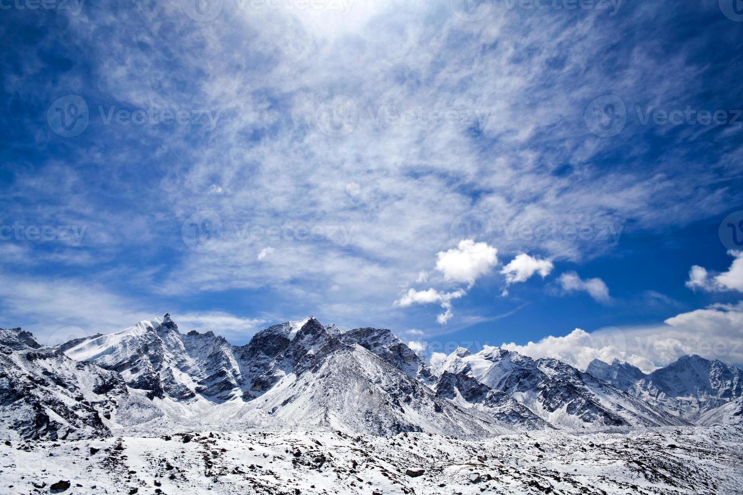 sagarmatha nationalpark, nepal himalaya foto