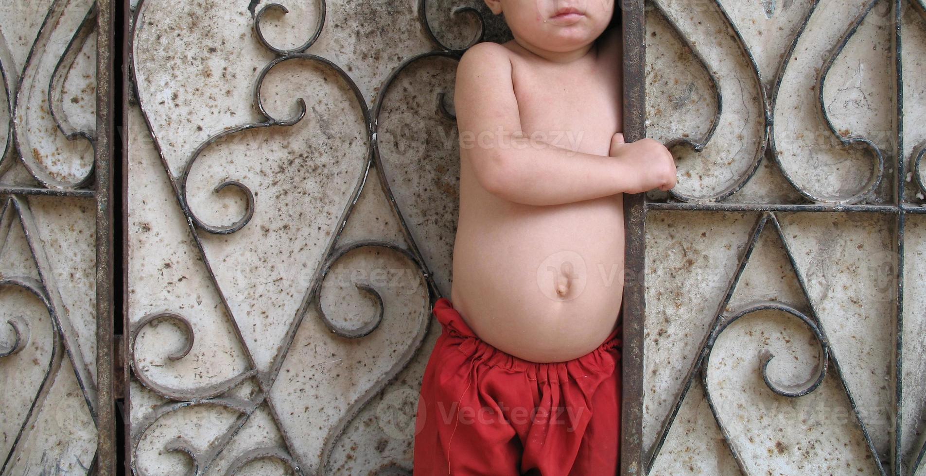 ansiktslös fattigdom foto