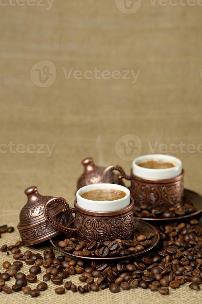 traditionell kopp turkiskt kaffe. foto