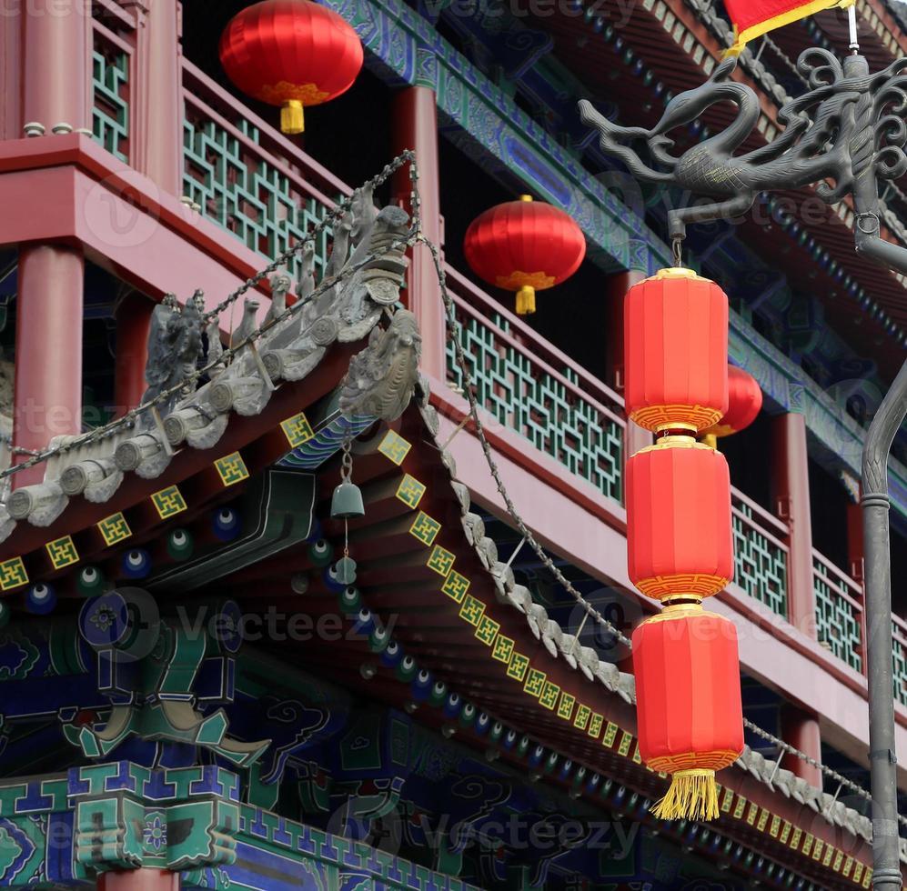 traditionellt buddhisttempel, xian (sian, xi'an), shaanxiprovinsen, Kina foto