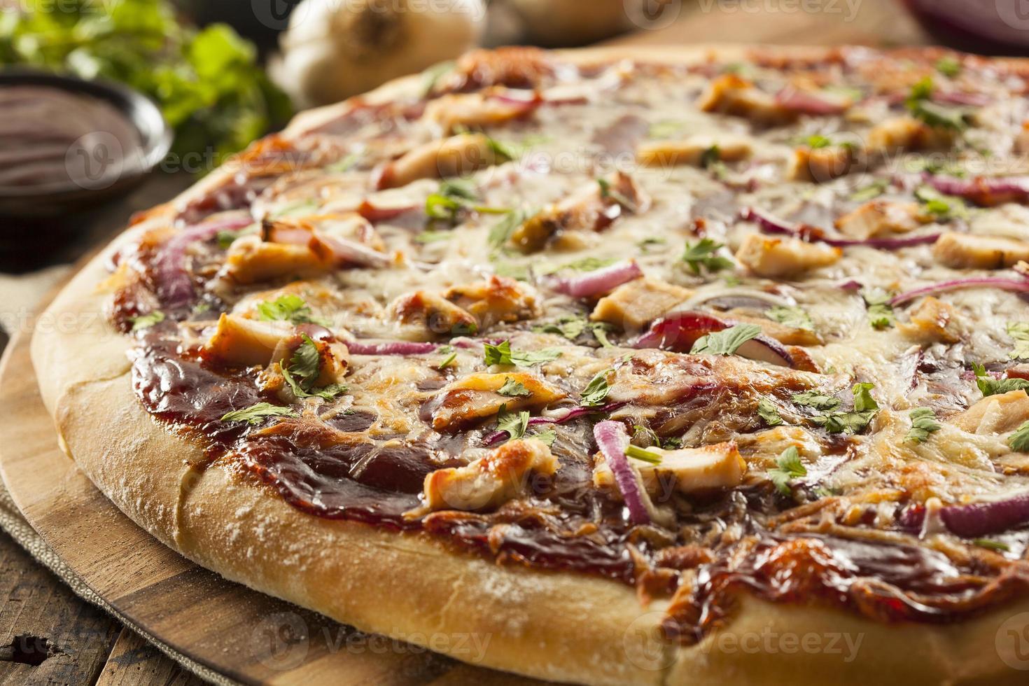 hemlagad grillkycklingpizza foto