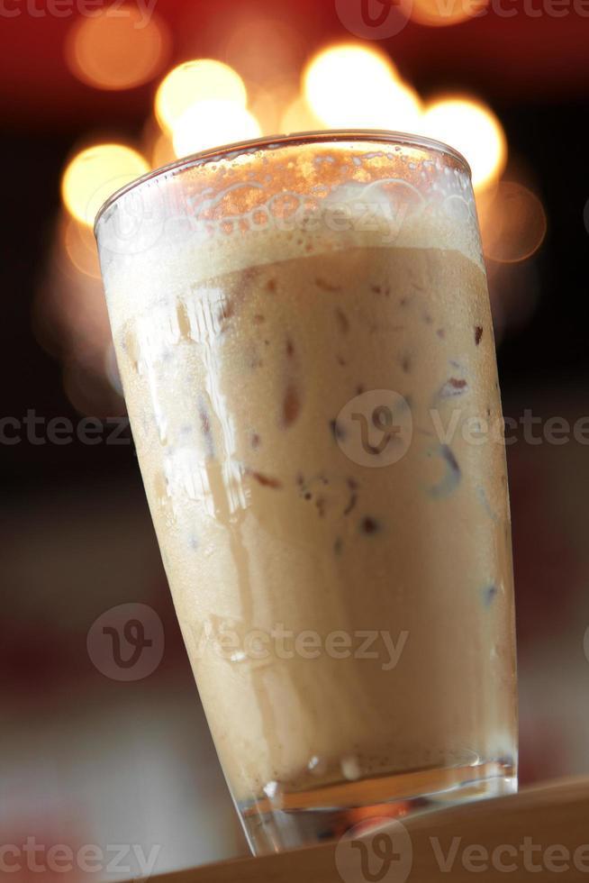 närbild kall cappuccino foto