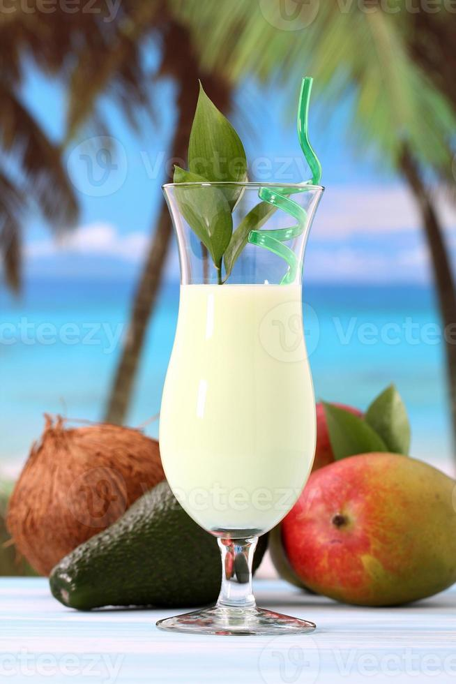 tropisk smoothie foto