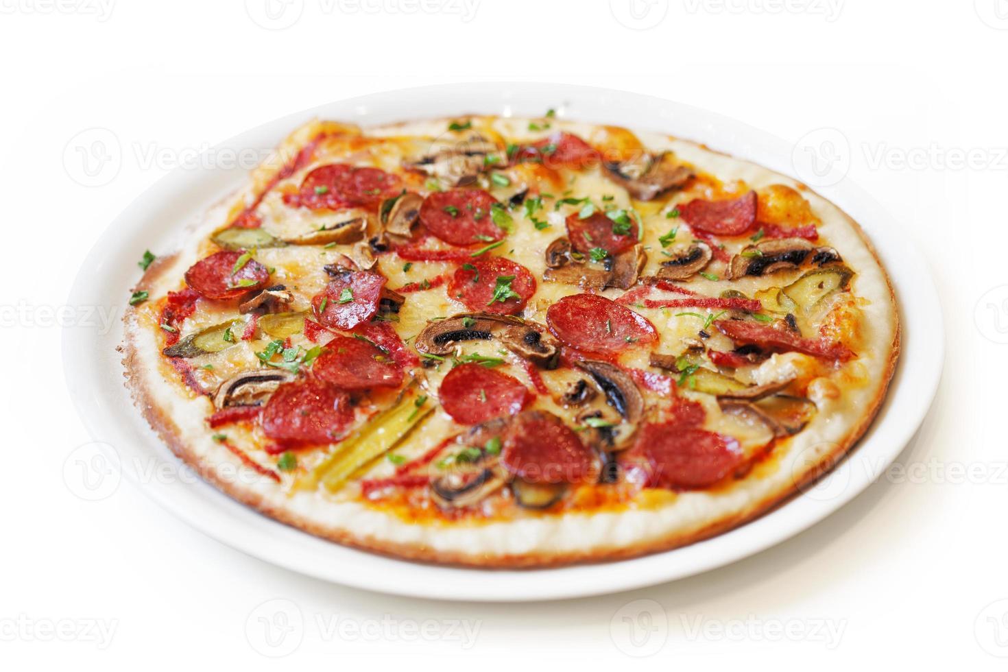 isolerad pizza foto