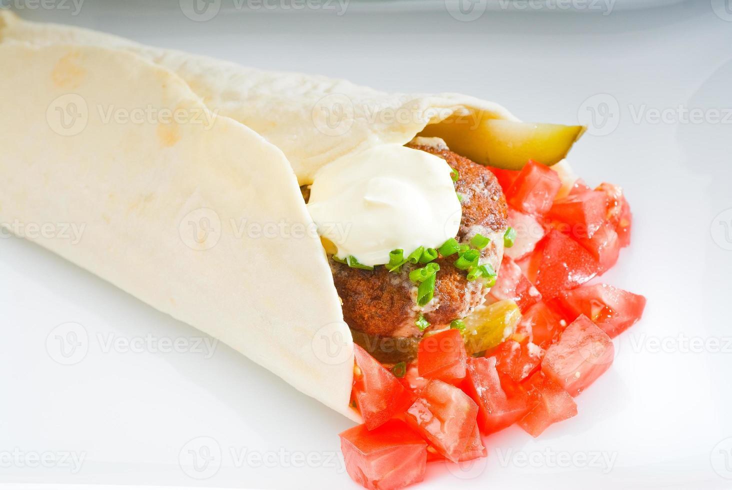 falafel wrap foto
