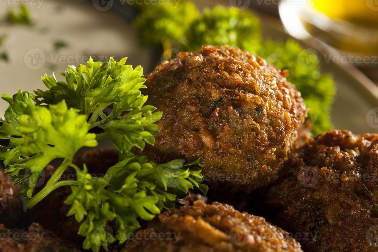 hälsosamma vegetariska falafelbollar foto