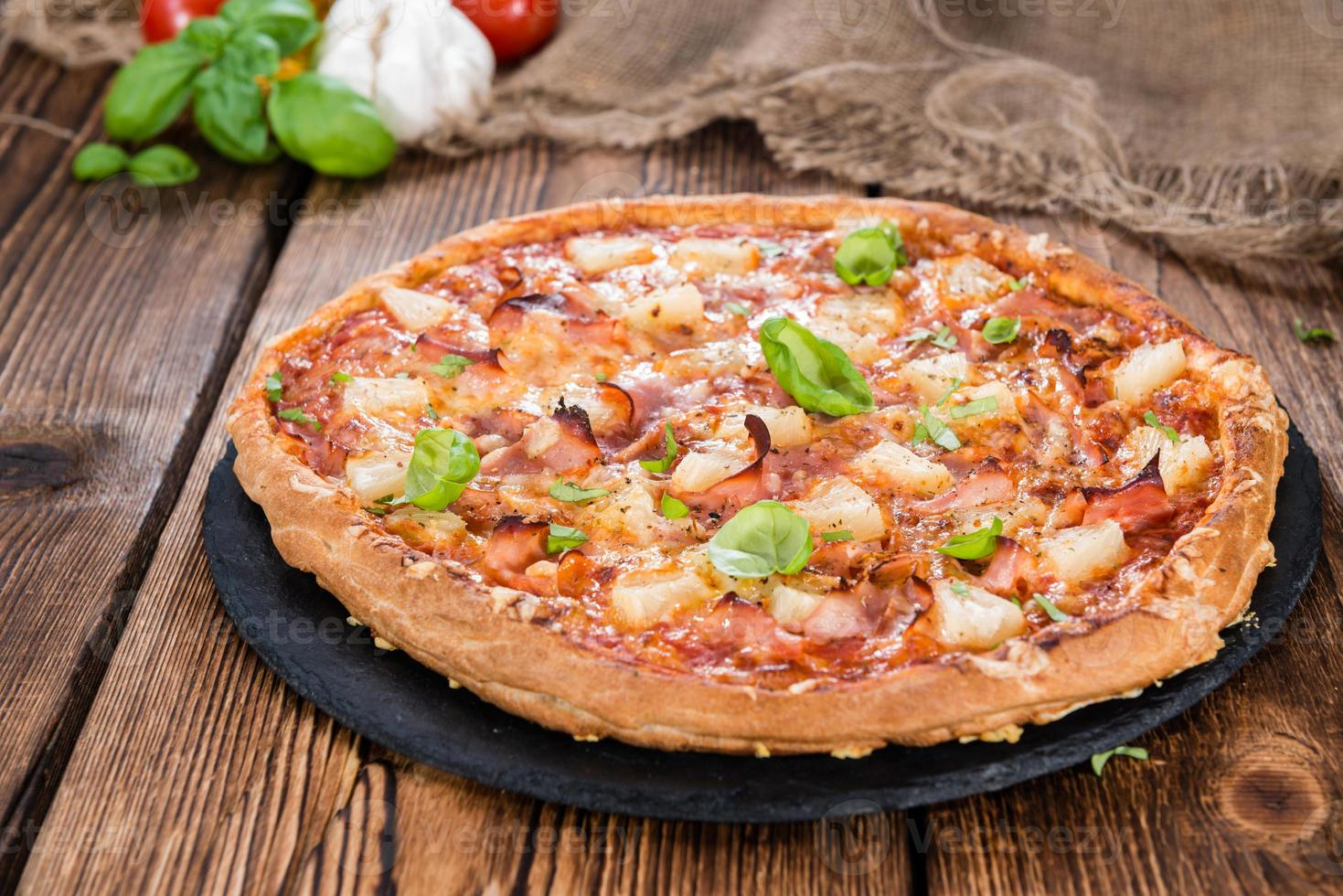 hawaiiansk pizza foto