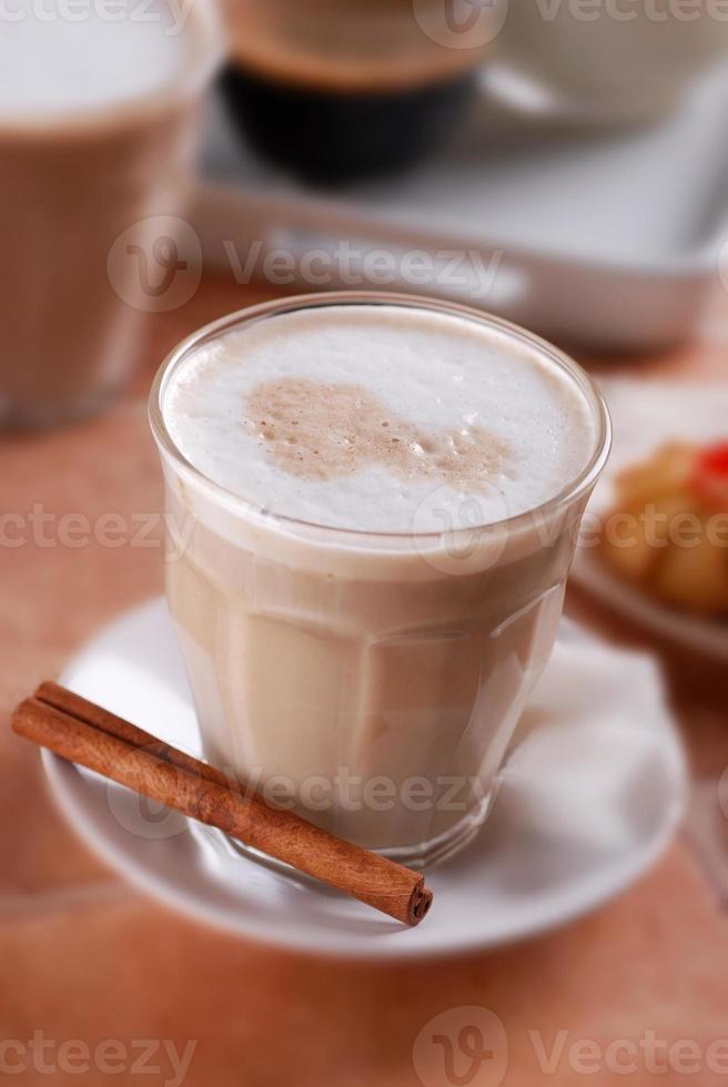 kaffe och mjölk foto