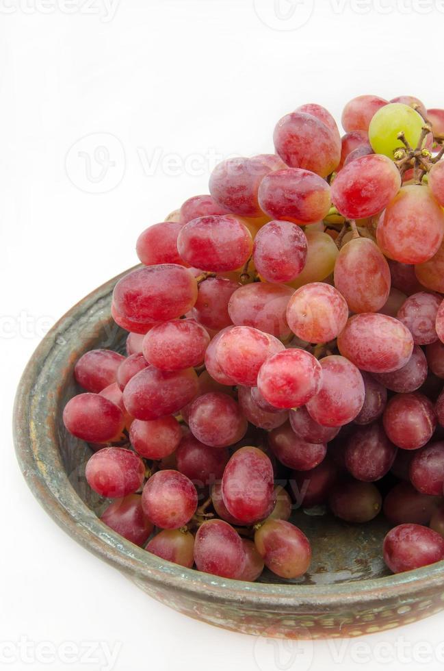massa röda druvor foto