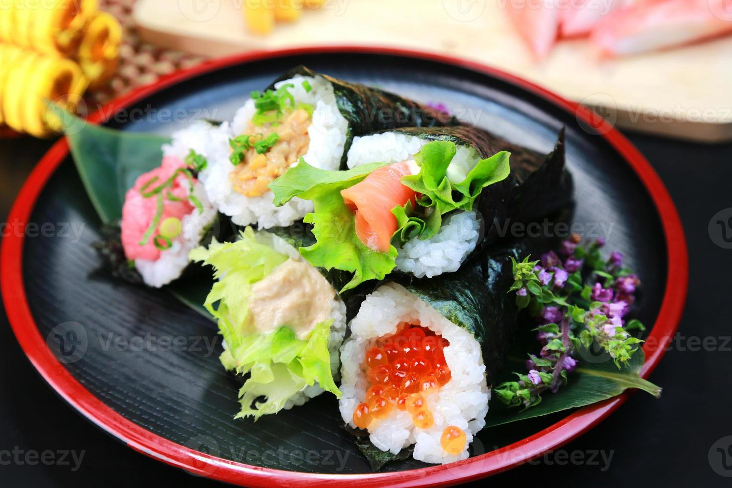 handrullade temaki sushi foto