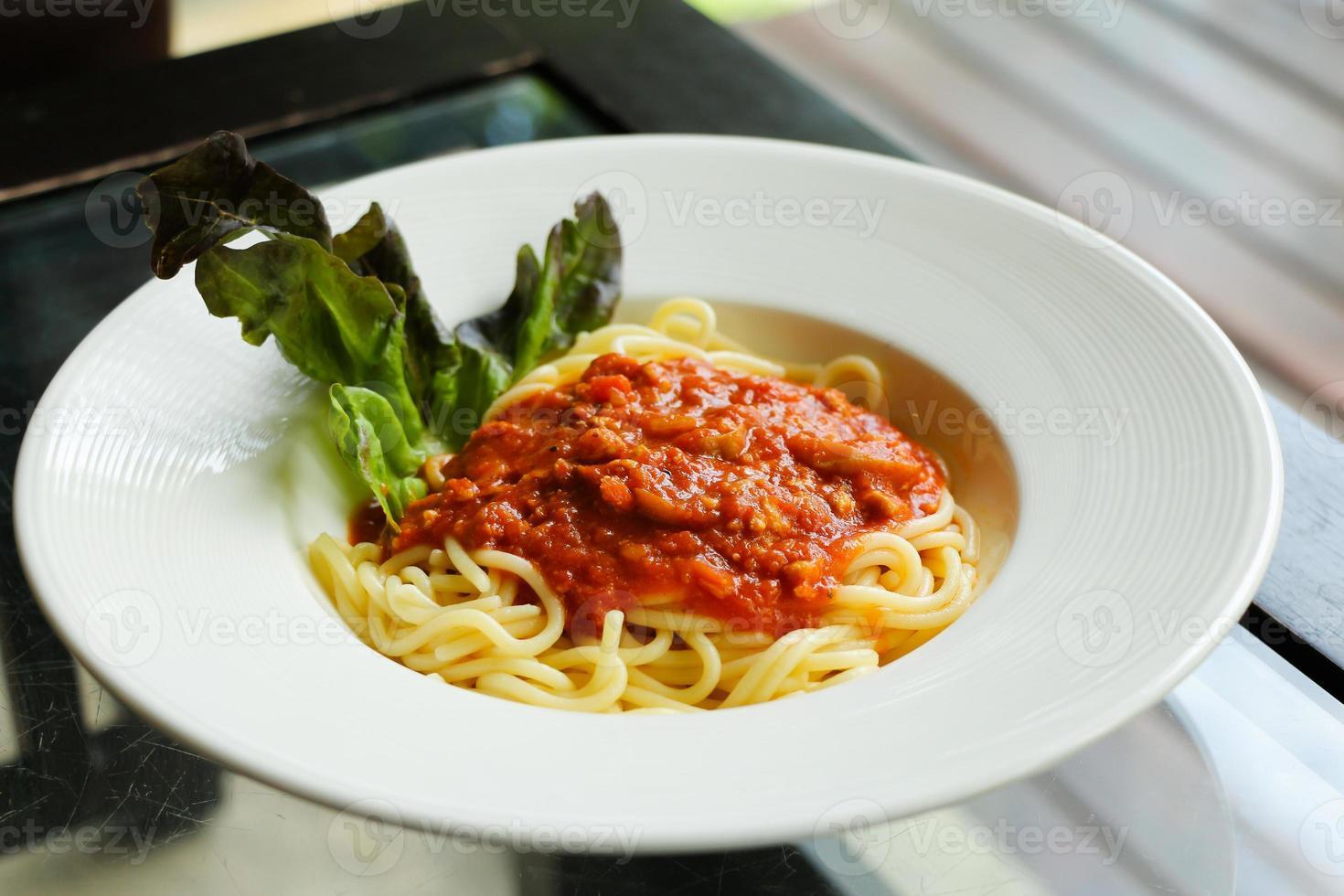 spagetti tomatsås foto