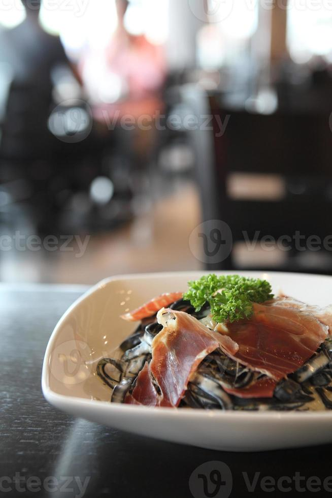 spagetti bläckfisk bläckfisk foto